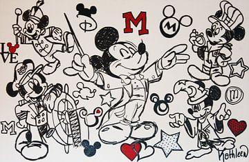 "Mickey Mouse ""Musik"" von Kathleen Artist Fine Art"