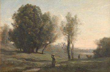 Landschaft ( Les Landes), Jean-Baptiste Camille Corot