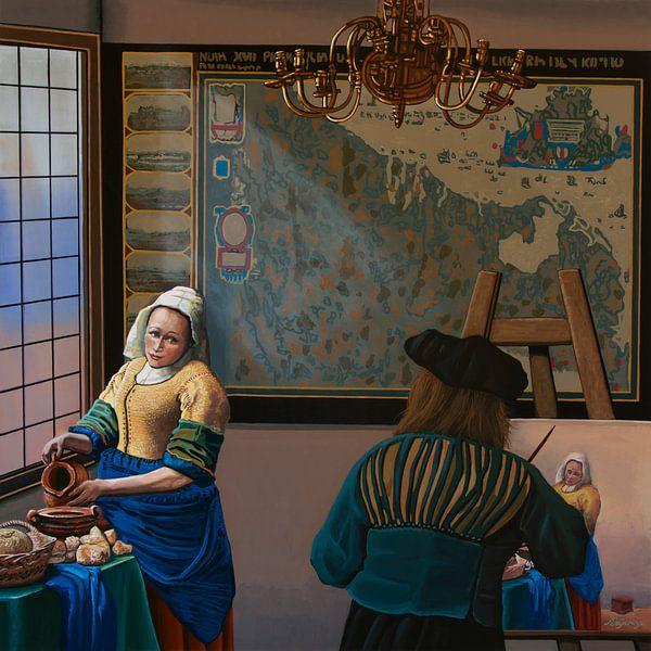 Ode aan Johannes Vermeer Schilderij van Paul Meijering