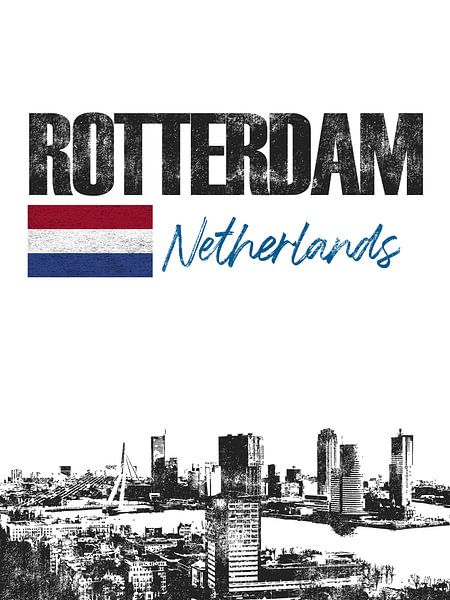 Rotterdam Nederland van Printed Artings