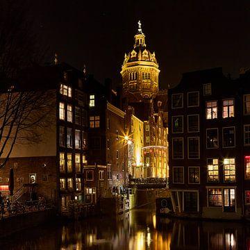 Amsterdam, uitzicht op de Zeedijk sur Ronald de Vries