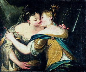 Pax en Justitia - anonyme Umgebung von Hans von Aachen, um 1600 von Atelier Liesjes