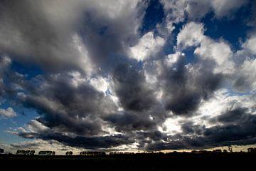 Dreigende lucht boven park Lingezegen. van Anne Ponsen