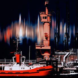 Hafenszene_10_varitone_Nacht von Manfred Rautenberg Photoart