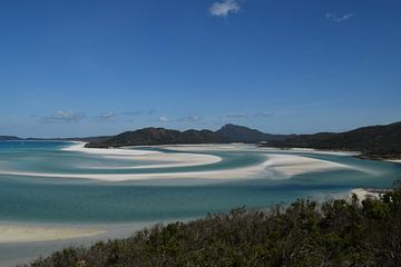 Whitehaven Beach in Queensland, Australië van Bianca Bianca