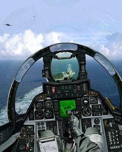 F-14A carrier landing van