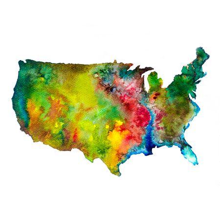USA Abstracte Landkaart