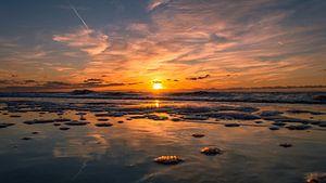 Het gouden uur op het strand