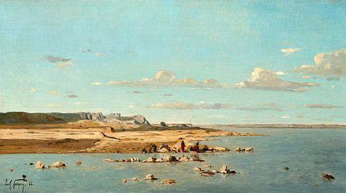 Wasvrouwen op de oevers van de Durance, Paul Guigou