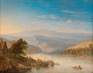 Blick auf den Rhein bei Andernach, Herman Saftleven