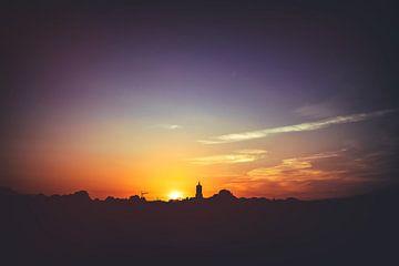 Zonsondergang boven Elst (Gld) van Nicky Kapel