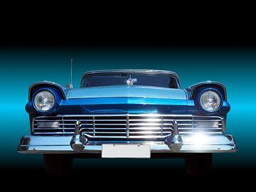 Amerikaans klassieke auto fair lane 1957 van Beate Gube