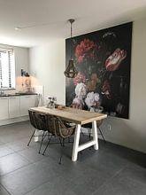 Kundenfoto: Blumenstrauß in einer Glasvase, Jan Davidsz. de Heem, auf nahtloser fototapete