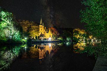 Minnewaterpark van Brugge, tijdens de nacht van Martijn Mureau