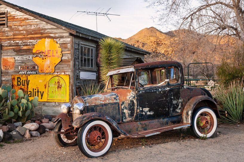 Oldtimer an Route 66 in Arizona van Kurt Krause