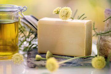 Handgemaakte zeep met olijfolie en handgemaakte zeep van Tanja Riedel