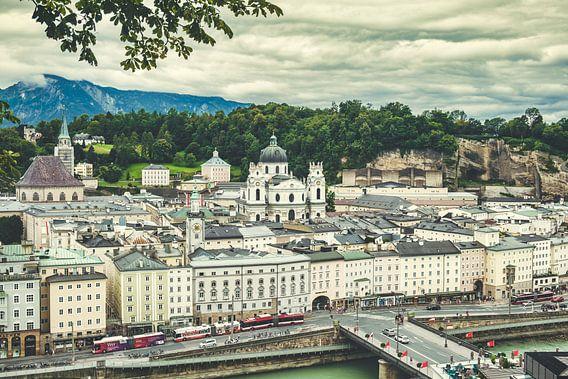 Blick über Salzburg vom Kapuzinerberg aus