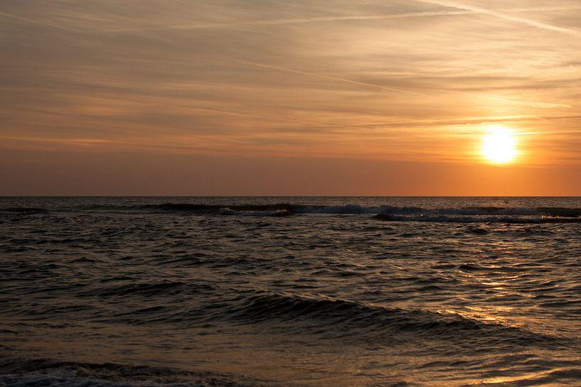 Texel Sunset van Maarten Krabbendam