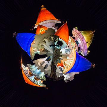 Sprookjeskasteel bij nacht, kleine planeet van Rietje Bulthuis