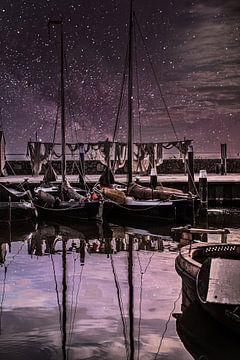 Sternenreiche Nacht in Urk von Yvonne van den Hatert