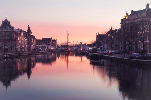 Haarlem winterse zonsopkomst.