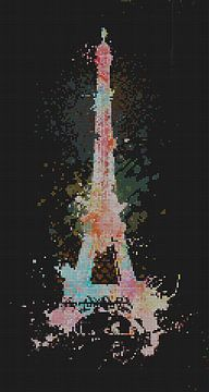 Abstracte Eiffeltoren van Marion Tenbergen