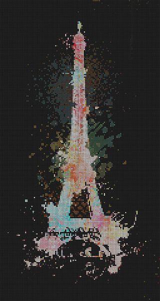 Abstrakt Eiffelturm von Marion Tenbergen