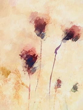 Abstracte bloemen van Angel Estevez