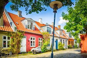 Kleurrijke huisjes in Møllestien