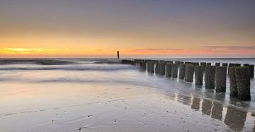 Paalhoofden Zeeuwse kust van John Leeninga