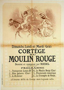 Prozession des Moulin Rouge, 1890 - 1900 von Atelier Liesjes