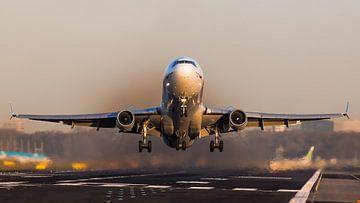 Martinair McDonnell MD-11F tijdens zonsondergang sur Dennis Janssen