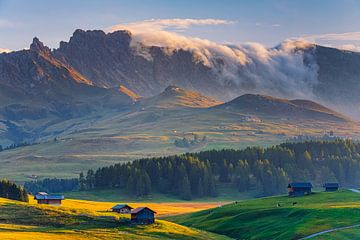 Zonsondergang in Alpe di Siusi