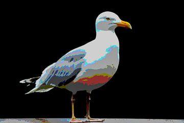 Zilvermeeuw, vogel van Marianne Twijnstra-Gerrits