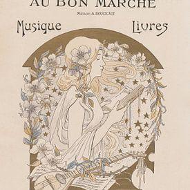 Französisches Jugendstil Plakat von Andrea Haase