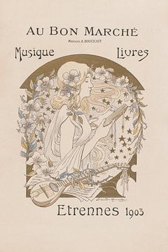 Französisches Jugendstil Plakat