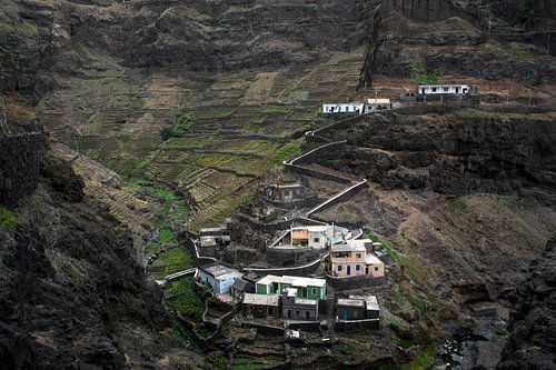 Mountain village in Africa van