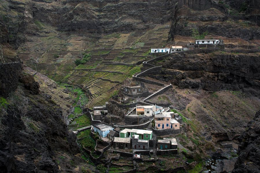 Mountain village in Africa