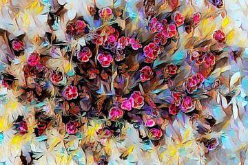 Rosa Blumen Abstrakt