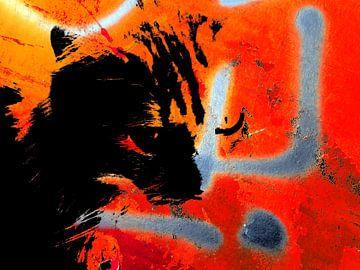 Kattenkunst - Odin 3 van MoArt (Maurice Heuts)