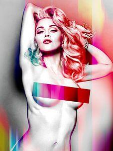 Madonnen-Wahrheit oder Nackt Abstrakt Rot wagen