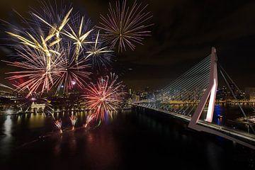 Feuerwerk in Rotterdam von Prachtig Rotterdam