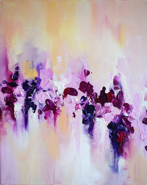 Pink Cherry Flowers van Maria Kitano