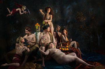 Pan, Bacchus en Ceres, Derek Galon MA van 1x