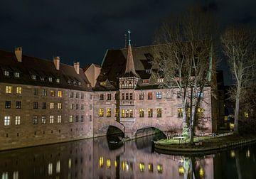 Nürnberg bei Nacht, Bayern, Deutschland sur Natasja Tollenaar