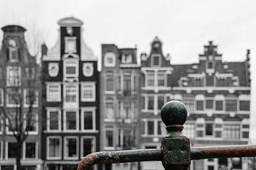 Grachtenhaus an der Prinsengracht Amsterdam von Johnny van der Leelie