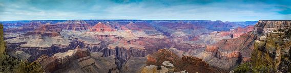 Zeer breed panorama van de Grand Canyon, VS