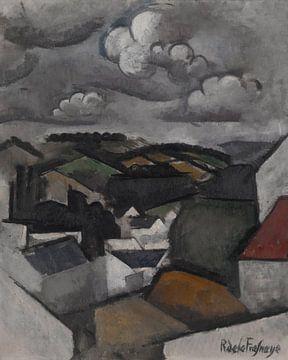Roger de La Fresnaye~Landschaft mit einem Dorf, Die Hügel hinter Meulan
