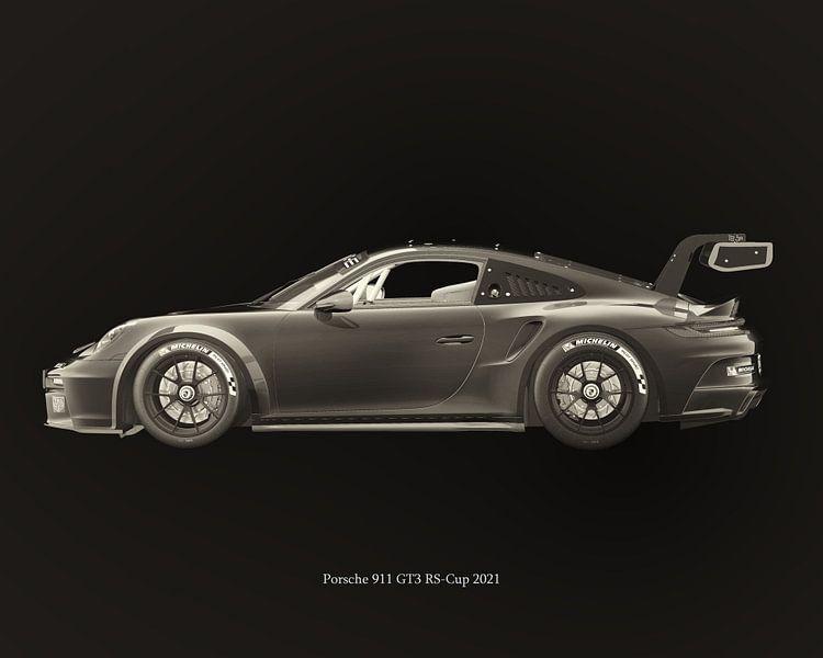 Porsche 911 GT-3 RS 2021 van Jan Keteleer