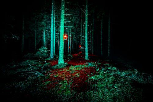 Rode lantaarn  van